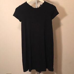 Forever 21 cute black open lace back dress